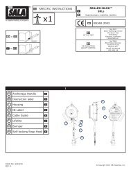 EN360:2002 SPECIFIC INSTRUCTIONS A Anchorage Handle B ...
