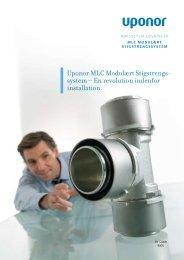 Stigstrengssystem 63-110 mm - Uponor