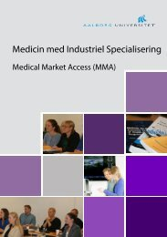 Medical Market Access - School of Medicine and Health - Aalborg ...