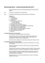 Beslutningsreferat – repræsentantskabsmøde 2012. - Danske ...