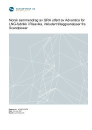 Norsk sammendrag av QRA utført av Advantica for LNG ... - Lyse