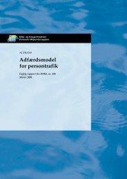 Adfærdsmodel for persontrafik - DCE - Nationalt Center for Miljø og ...