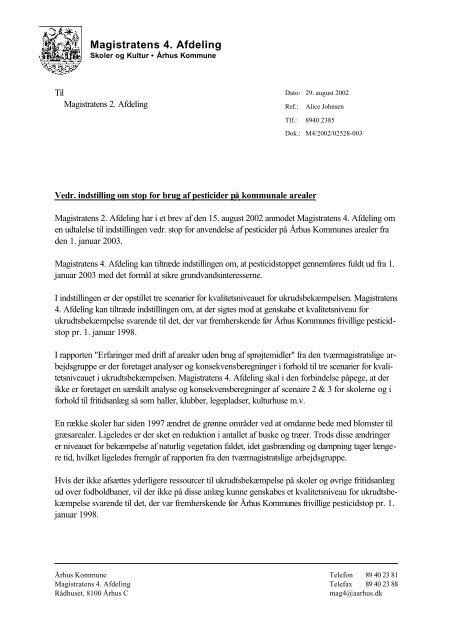 Word Pro - høringssvar vedr. brug af pesticider, 4.afd.