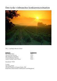Den tyske vinbranches konkurrencesituation - Tyskvin.dk