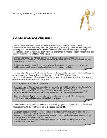 og kundeklausul, som de kan se ud i en kontrakt - Business Danmark