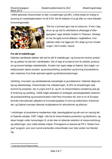 Eksamensopgave Marts 2013 - Gabriel - Marketing-info