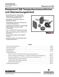 Rosemount 248 Temperaturmessumformer und Überwachungseinheit