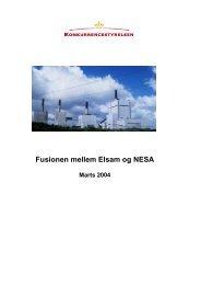 Fusionen mellem Elsam og NESA - Konkurrence