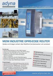 Flyer M2M Router - ADYNA