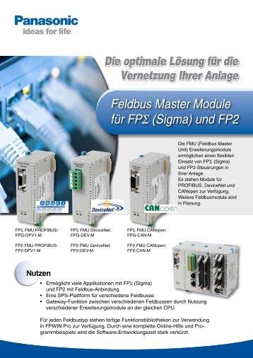Feldbus Master Module für FP-Sigma und FP2 - Panasonic Electric ...
