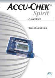 Accu-Chek Spirit Gebrauchsanweisung - PDF-Dokument