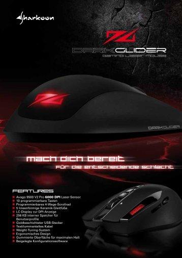 Avago 9500 V2 Pro 6000 DPI Laser-Sensor 10 ... - Sharkoon