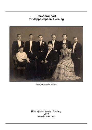 Personrapport for Jeppe Jepsen, Herning - Thorborg - Liisberg ...