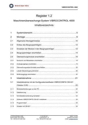Register 1.2 - Brüel & Kjaer Vibro