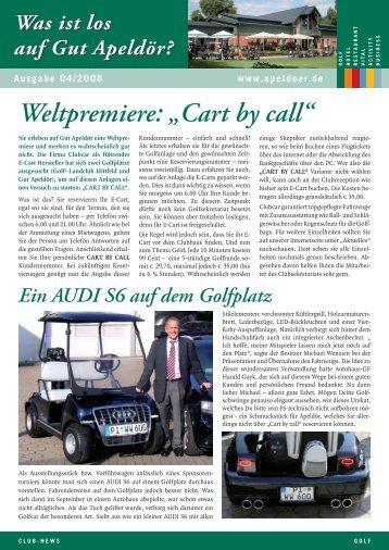 """Weltpremiere: """"Cart by call"""" - Golf Club Gut Apeldoer"""