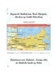 Tur med autocamper til Rusland og Sibirien 2007 - Dansk ...