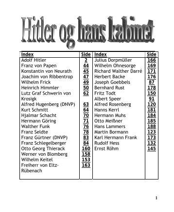 Index Side Index Side Adolf Hitler Franz von Papen Konstantin von ...