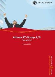 Prospekt som offentliggjort til First North, Marts 2008 - Athena