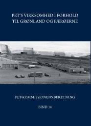 PET's virksomhed i forhold til Grønland og Færøerne