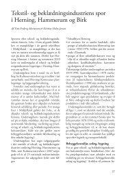 Tekstil- og beklædningsindustriens spor i Herning, Hammerum og Birk