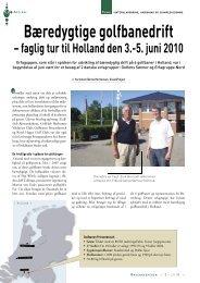 Bæredygtige golfbanedrift – faglig tur til Holland den 3.-5 ... - Turfgrass