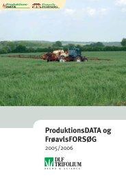 ProduktionsDATA og FrøavlsFORSØG - DLF-TRIFOLIUM Denmark