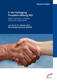 8. wbv-Fachtagung Perspektive Bildung 2021