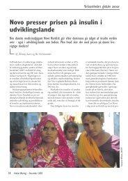 Novo presser prisen på insulin i udviklingslande