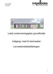 Lokal undervisningsplan grundforløb LM - Svendborg Erhvervsskole