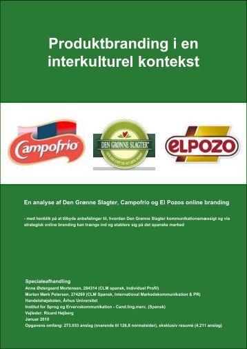 En analyse af Den Grønne Slagter, Campofrío og El Pozos ... - PURE