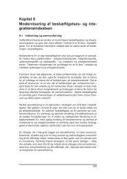 Kapitel 8 Modernisering af beskæftigelses- og ... - Finansministeriet