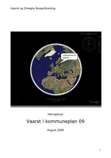 Vaarst i kommuneplan 09