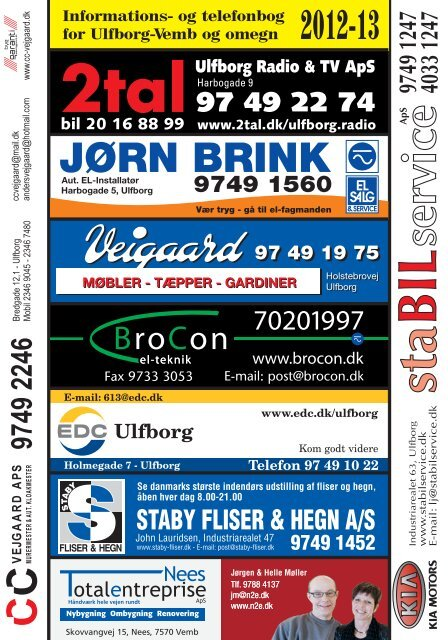 og telefonbog for Ulfborg-Vemb og omegn