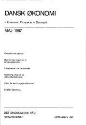Dansk økonomi, maj 1987 - De Økonomiske Råd