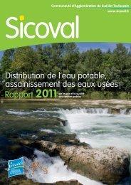 Sicoval - Rapport 2011 : distribution de l'eau potable ...