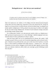 Ditte Schwartz Dahlberg, Biologisk terror - Aigis