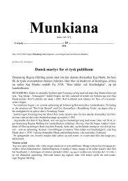 Dansk martyr for et tysk publikum - Kaj Munk Online