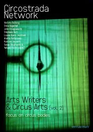 Arts Writers & Circus Arts - Circostrada Network