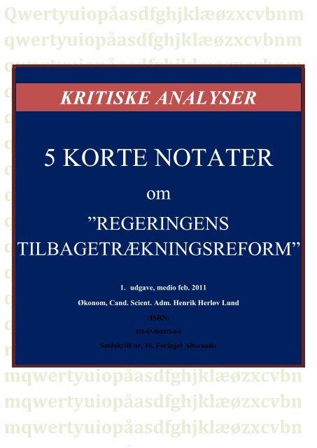 5 KORTE NOTATER - Henrik Herløv Lund