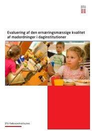 Evaluering af den ernæringsmæssige kvalitet af ... - Altomkost.dk