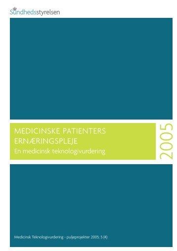 Medicinske patienters ernæringspleje - Sundhedsstyrelsen