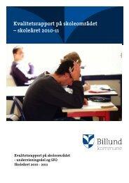Kvalitetsrapport på skoleområdet – skoleåret ... - Billund Kommune