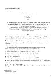 Forslag Lov om ændring af lov om arbejdsløshedsforsikring mv ... - Net