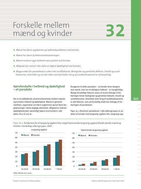 Forskelle mellem mænd og kvinder - Statens Institut for Folkesundhed