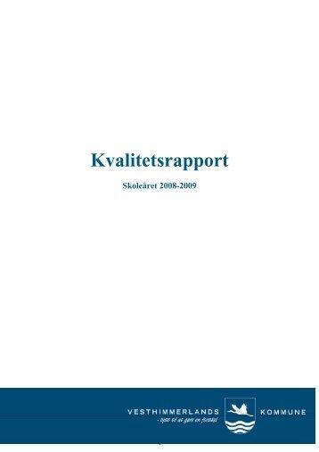 Kvalitetsrapport 2008 2009 - Vesthimmerlands Kommune