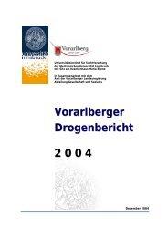 Vorarlberger Drogenbericht 2 0 0 4