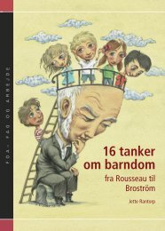 16 tanker om barndom - fra Rousseau til Brostrøm - FOA