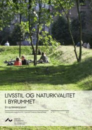 Livsstil og naturkvalitet i byrummet - DCE - Nationalt Center for Miljø ...