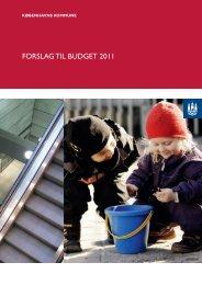 Budgetforslag 2011 - Nyt fra Københavns Ældreråd