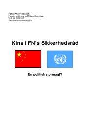 Kina i FN's Sikkerhedsråd - Forsvarsakademiet